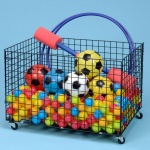 Mobile Sports Storage Basket